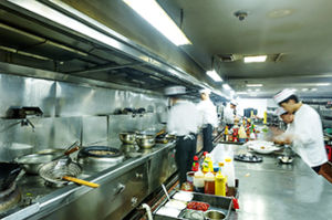 Japanese commercial kitchen