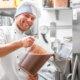 Making Chocolate Gelato