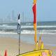 Australian Life Guard Beach Patrol Set up on Gold Coast Beach
