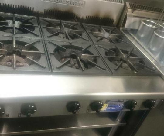 Goldstein 6 Burner Cooktop PFB36 with Goldstein Stand