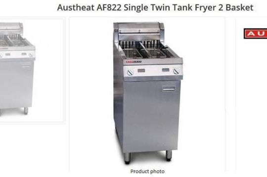 Ausheat AF822 Single Twin Tank Fryer 2 Basket (Electric)