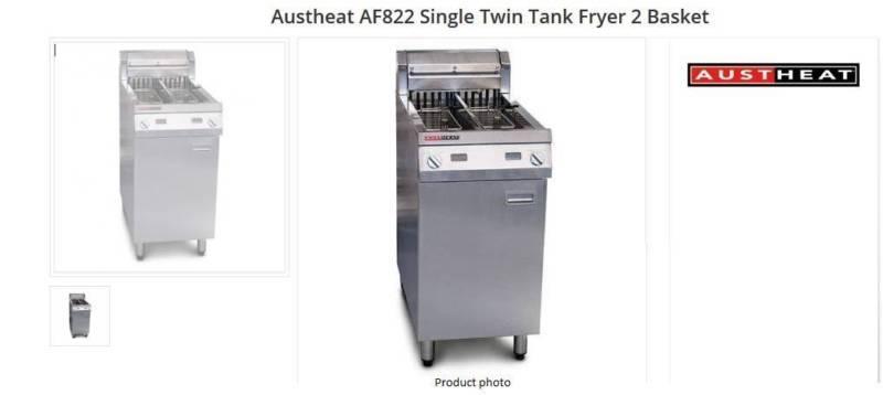 Ausheat AF822 Single Twin Tank Fryer 2 Basket (Electric)